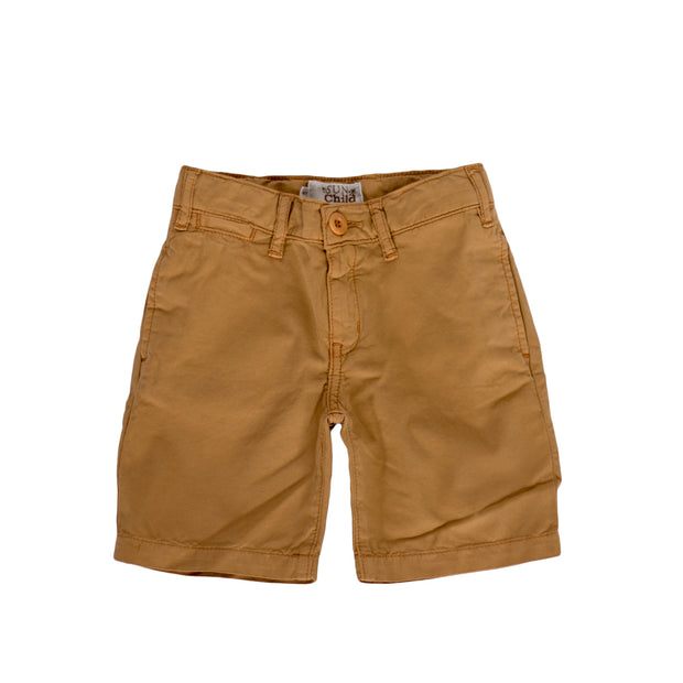 sunchild boys Retiro brown chino shorts