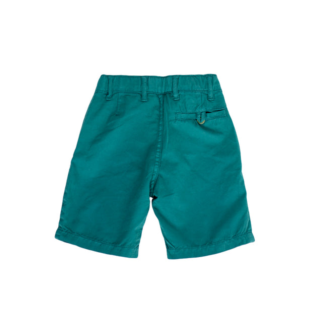 sunchild boys Retiro peacock blue chino shorts