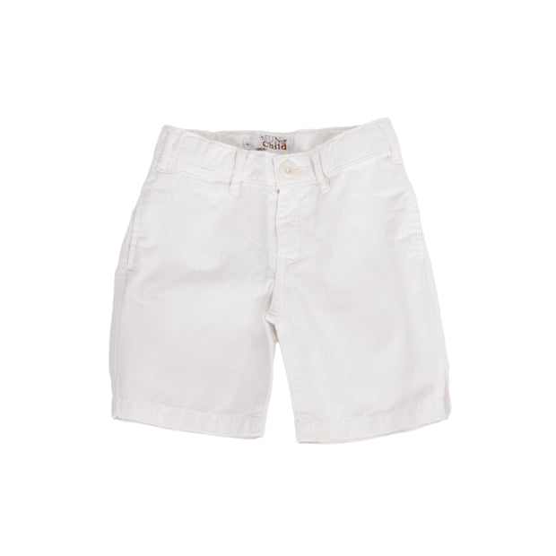 sunchild boys Retiro white chino shorts