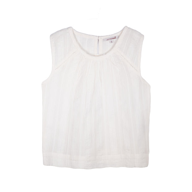 sunchild girls malawi white sleeveless summer top