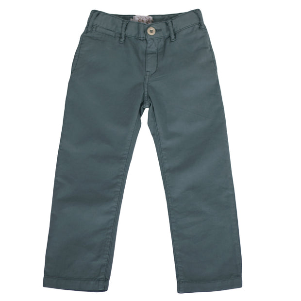 sunchild boys soft cotton galaxy green chino pants