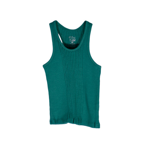 sunchild boys and girls brits peacock blue vest top
