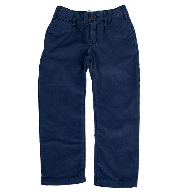 sunchild boys soft cotton navy blue chino pants