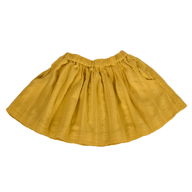 sunchild girls Suwa yellow thick cotton skirt