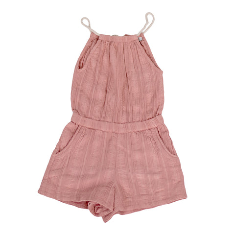 sunchild girls Tahoe pink cotton jumpsuit