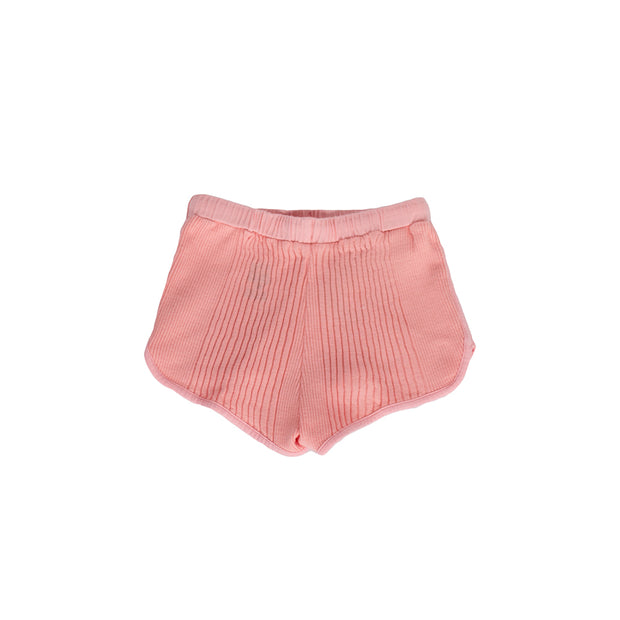 sunchild girls rio ribbed pink shorts drawstrings