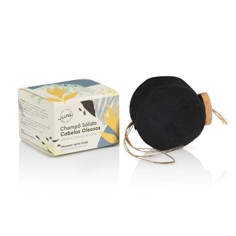 Unii organic Shampoo Bar for Oily Hair with olive oil and activated charcoal