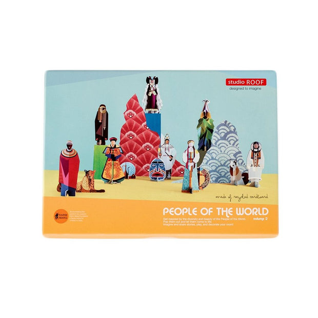 STUDIO ROOF People of the World 3D carton assemblage jouet