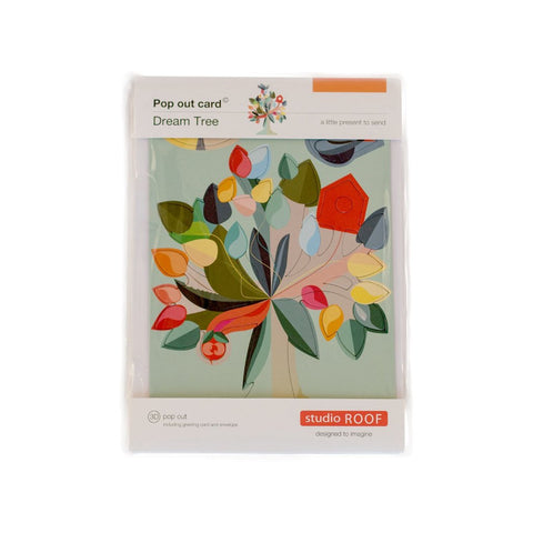 STUDIO ROOF Pop Out greeting Card Dream Tree