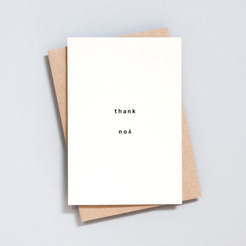Ola Studio Foil Blocked Card - Thank You