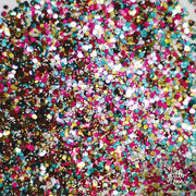 Eco Glitter Fun biodegradable cosmetic glitter mixed colours