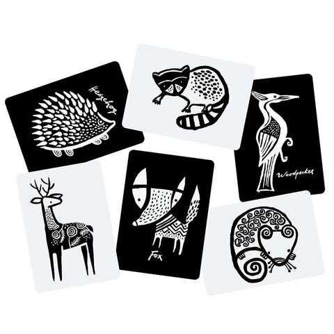 Wee Gallery black and white Art Cards For Baby Woodland Collection
