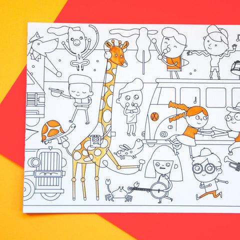 Makii Whopping Wide Colouring Picture  Traffic Jam