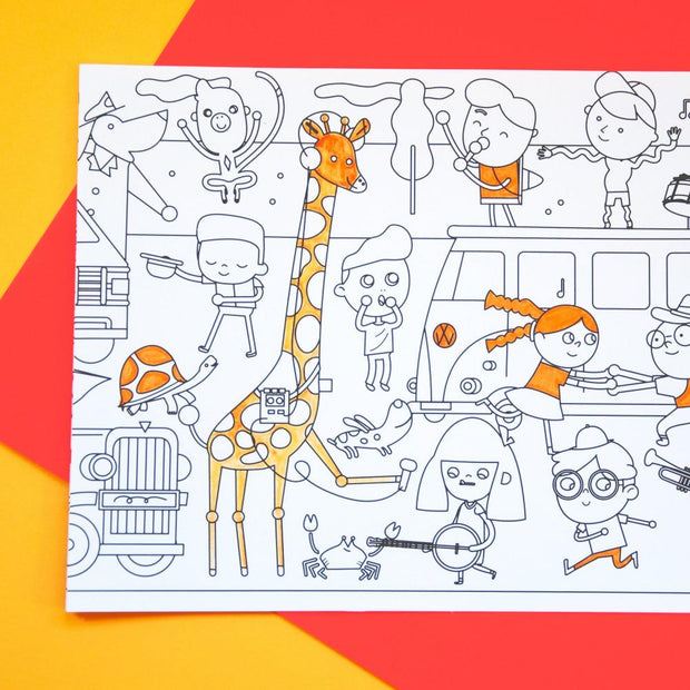 Makii Whopping Wide Coloring Picture Traffic Jam