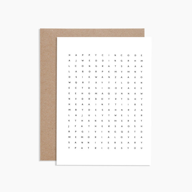 word search creeting card