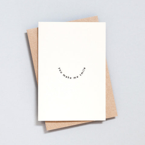 Ola Studio Foil Blocked Card - You Make Me Smile