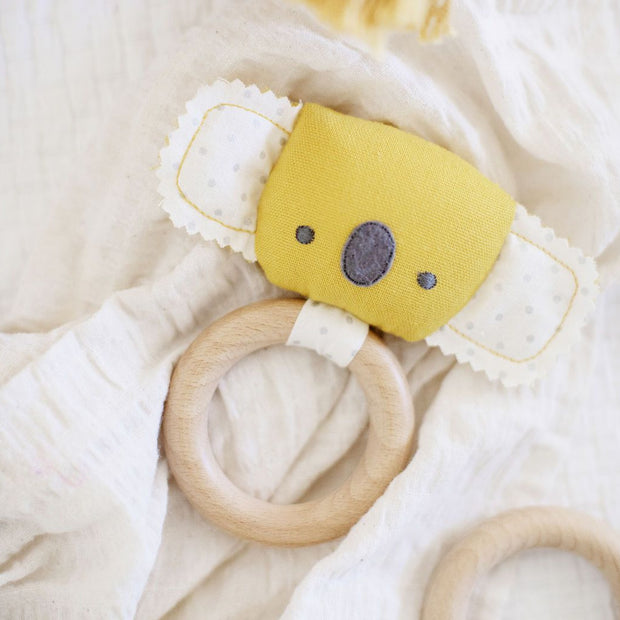 Alimrose Baby Koala Teether Rattle - Butterscotch