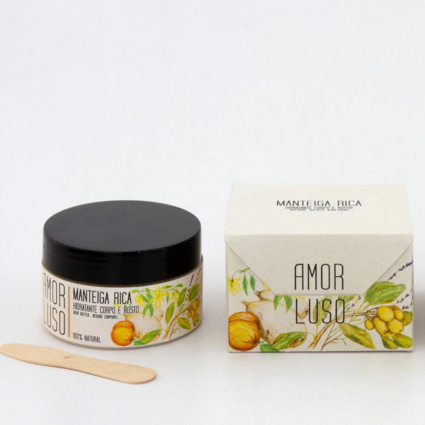 moisturising rich body butter by amor luso