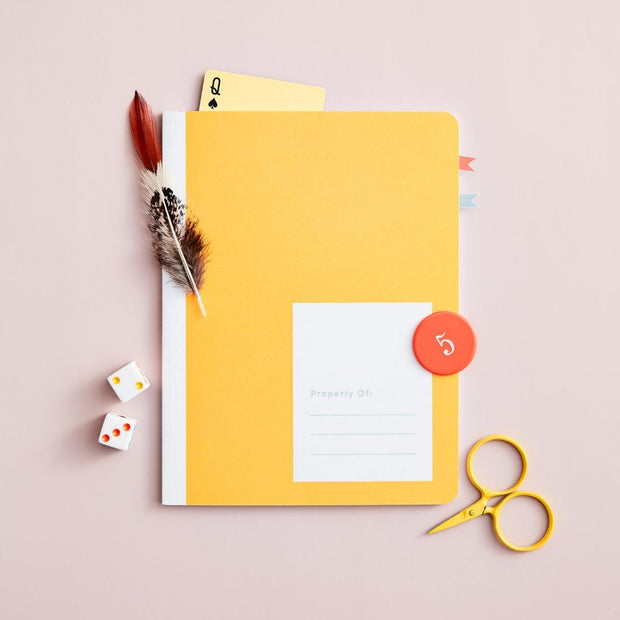 appointed kids notebook in canary yellow