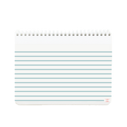appointed kids spiral sketchpad with blue stripes