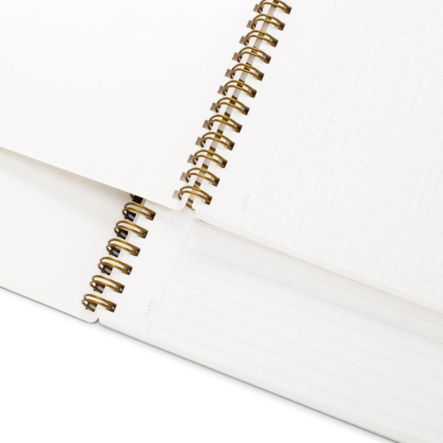 appointed notebook grid and lined interior