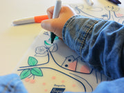 SUPER PETIT Table mat Magic Tree and 5 washable markers