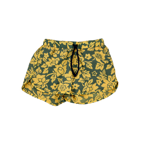 sunchild boys Bahia yellow printed swim shorts drawstring waist