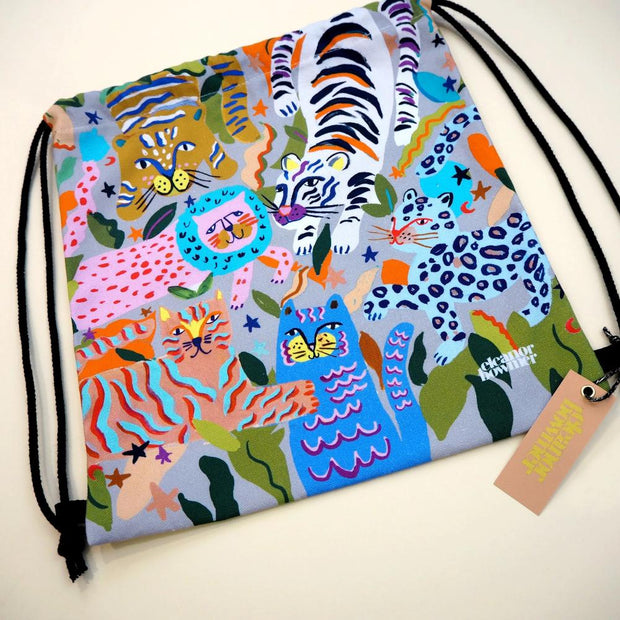 Eleanor Bowmer Double Sided Kids Bag - Big Cats