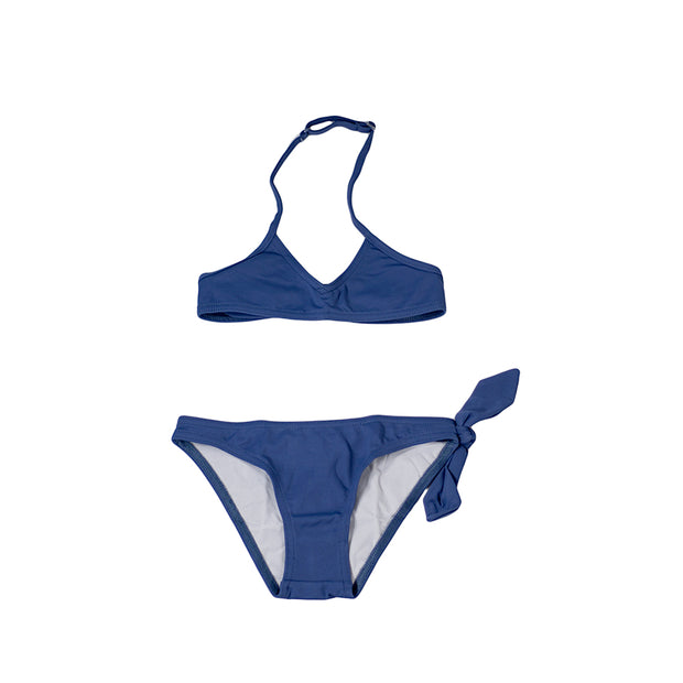 sunchild girls jerez ink blue 2 piece bikini with bow detail