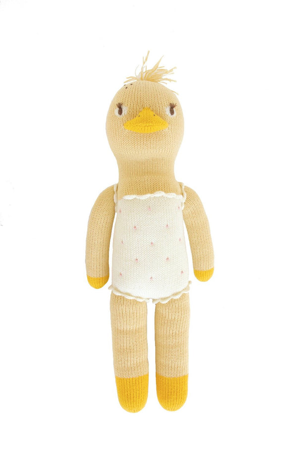 blabla kids soft knitted lucille duck doll in yellow