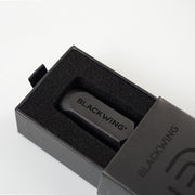blackwing one-step long point metal sharpener in a black giftbox