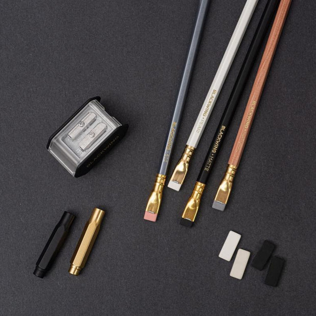 blackwing starting point set pencils, erasers,sharpener and point guards