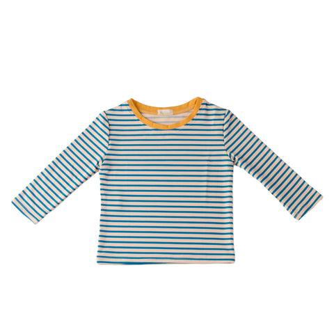 pacific rainbow girls Albert blue stripes rash vest