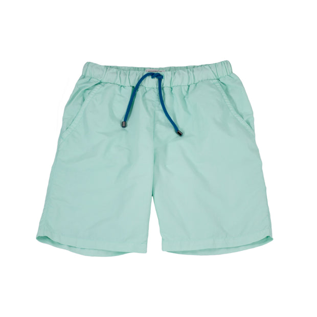 sunchild boys booby long aquamarine blue swim shorts drawstring waist