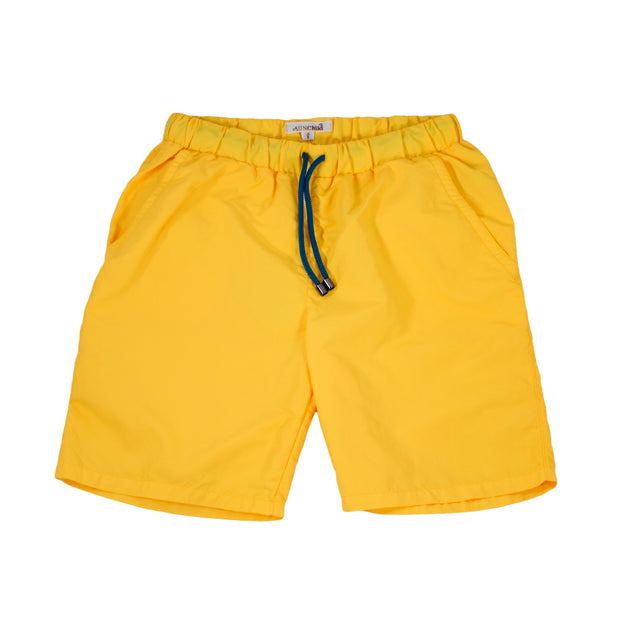 sunchild boys booby long yellow swim shorts drawstring waist