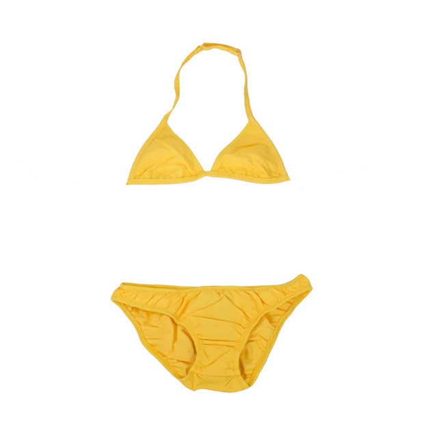 sunchild girls caleta yellow 2 piece bikini