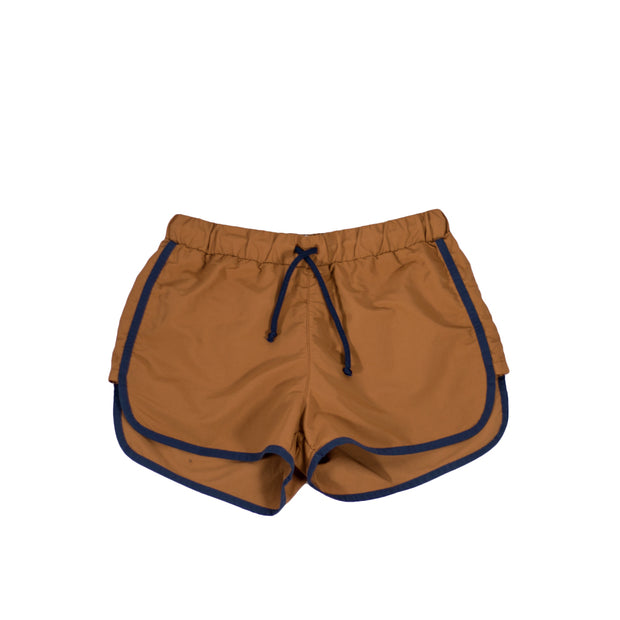 sunchild boys Carlos brown swim shorts drawstring waist