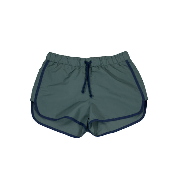 sunchild boys Carlos green swim shorts drawstring waist