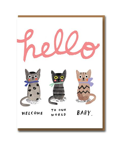 Carolyn Suzuki Card - Three Little Kittens