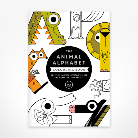THE JAM TART Animal Alphabet Colouring Book