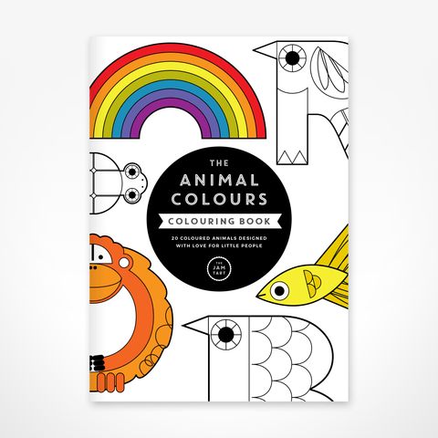 THE JAM TART Animal colours Colouring Book learning through play