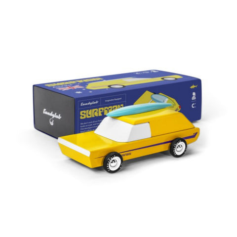 Candylab Americana - Surfman wooden toy car