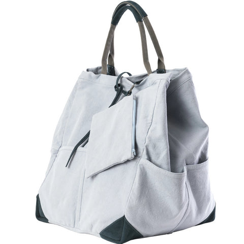 Travaux En Cours Large Cotton Tote Bag ice blue