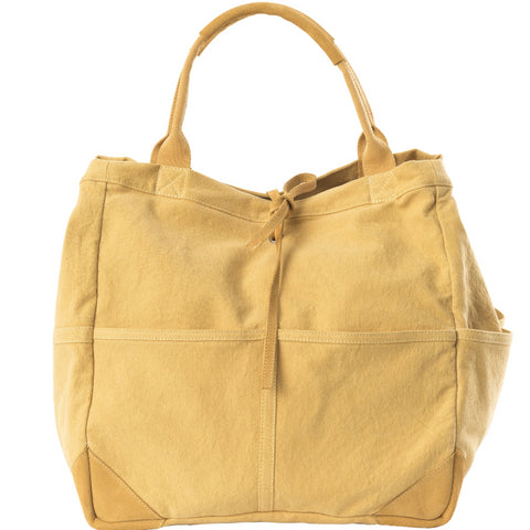 Travaux En Cours Medium Cotton Tote Bag yellow