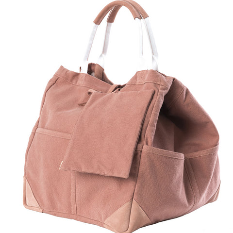 Travaux En Cours Medium Cotton Tote Bag pink