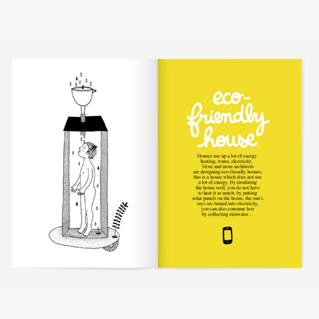 Minus Editions Draw Me a House activity book interior