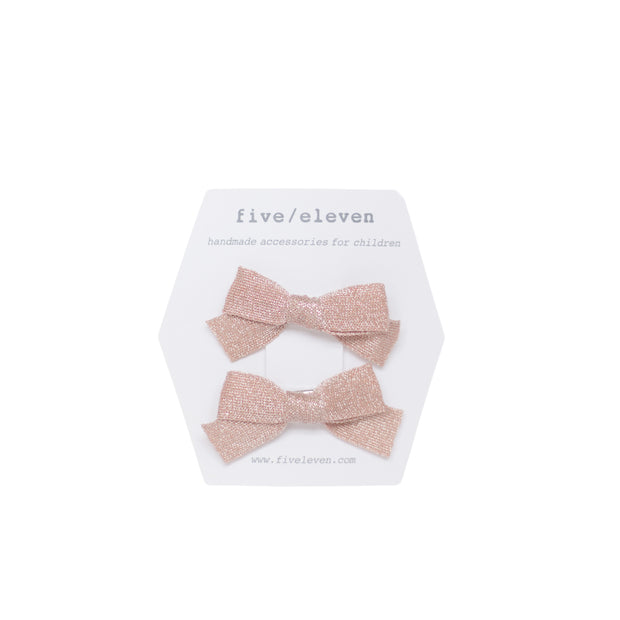 five/eleven Japanese Hair Bows powder pink