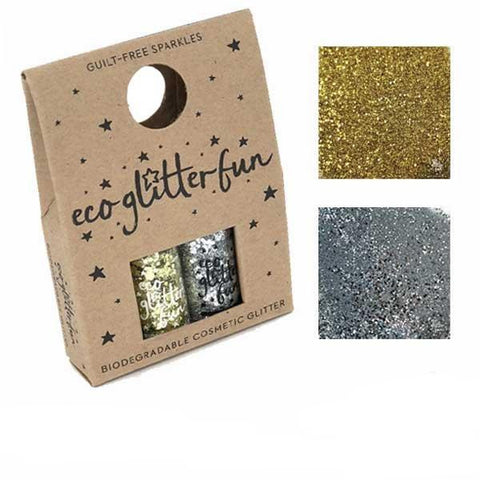 Eco Glitter Fun Box of 2 - Silver & Golden