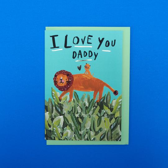 Eleanor Bowmer Card - I love You Daddy Lion Club