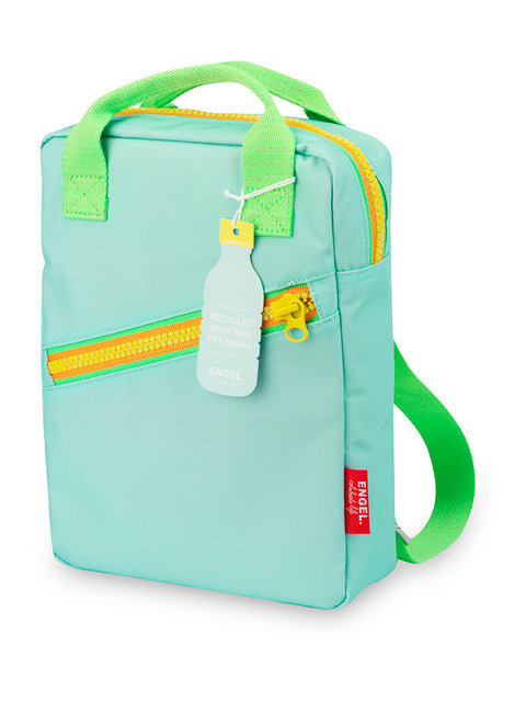ENGEL kids Backpack Small Zipper Blue from recycled bottles